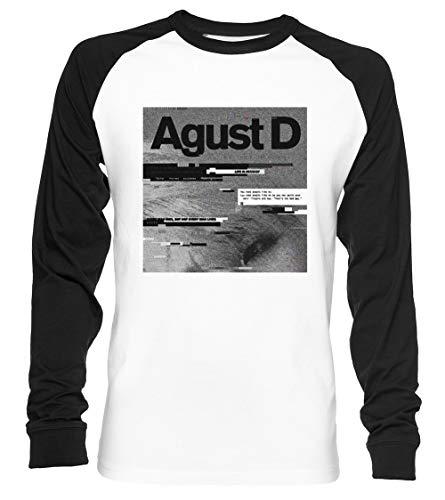 AG(litch) ust D Unisex Camiseta De Béisbol Manga Larga Hombre Mujer Blanca Negra