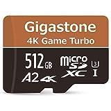 【5年データ回復保証】【Nintendo Switch対応】Gigastone 512GB マイクロSDカード A2 V30 4K Game Turbo 最大読み書きスピード 100/80MB/s Ultra HD 4K撮影 Micro SD UHS-I U3 Class 10 メーカー10年保証