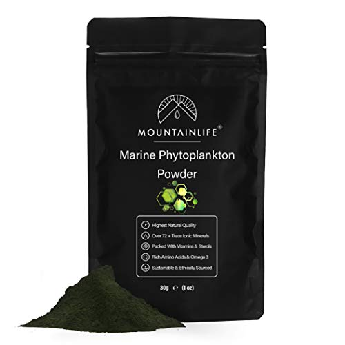 Mountainlife Marine Phytoplankton Powder   30g   Highest Natural Quality   Deep Sea Mineral Rich Phytoplankton Algae Powder   Suitable for Humans & Pets   Natural Borehole Farmed Marine Phytoplankton