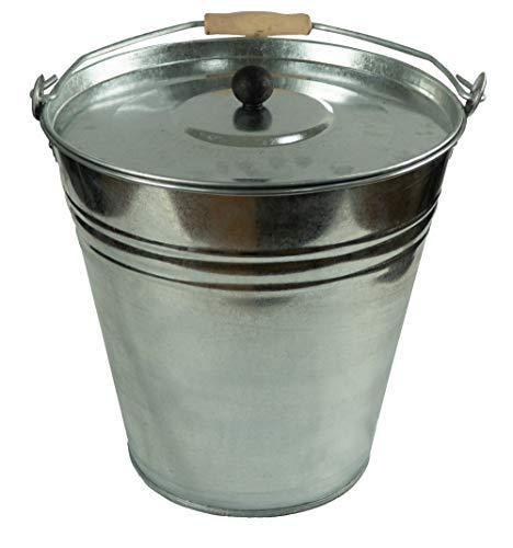 Zinkeimer Ascheeimer mit Deckel, verschiedene Größen (15 Liter)