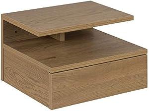 Lounge-Zone Ashlan Table de Chevet Chêne Sauvage 3 Etages