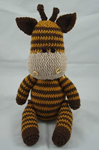 Girafe jouet tricoté à la main tricoté animal en peluche jouet tricoté enfants nouveau bébé