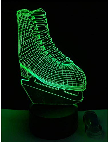 Nachtlampje schaats schoen stijl 3D LED-lamp USB bureau nachtlampje meerkleurig home sfeervol illusie decoratie sport boy kind cadeau