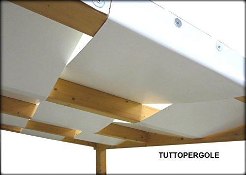 FASCIA PVC ONDA COPERTURA PERGOLE GAZEBO cm 40X500 (Avorio)