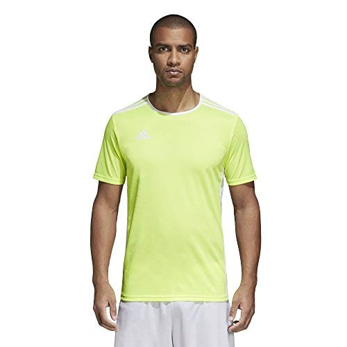 adidas Entrada 18 - Camiseta de entrenamiento - F1706GHTM111, Entrada 18 Jersey, Juventud XS, Solar amarillo/blanco