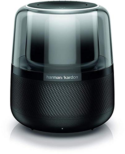 Harman Kardon Allure Altoparlante con Alexa Integrata e Sub, Smart Speaker Bluetooth con Suono e Illuminazione a 360°, Nero
