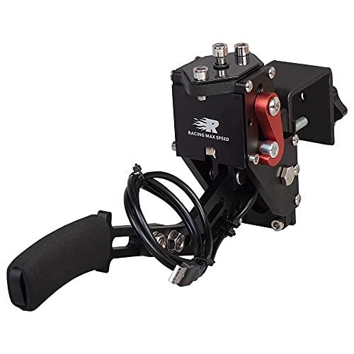 Freno De Mano Negro USB Handbrake para juegos de carreras G25 /G27/G29 T500 con abrazadera fija inoxidable Freno De Mano Usb (Color : 1)