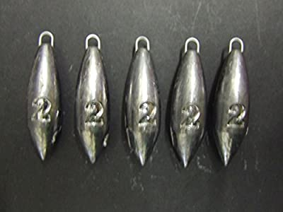 FFT PRO 2oz Plain Sea Fishing Weights Pack Of 5 FOR Bait Mackerel Feather Cod Bass Boat Fishing from FFT