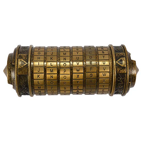 Goliraya - Caja de regalo para San Valentín, diseño retro con código de alfabeto de Da Vinci