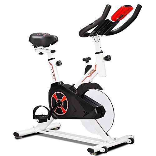 MJ-Brand Indoor-Spinning-Bike Cardio mit 8 kg Schwungrad LCD-Display Pulsmessung Fitness-Bike Platzsparend mit Transporträdern und Tablet-Halter Silence Fit