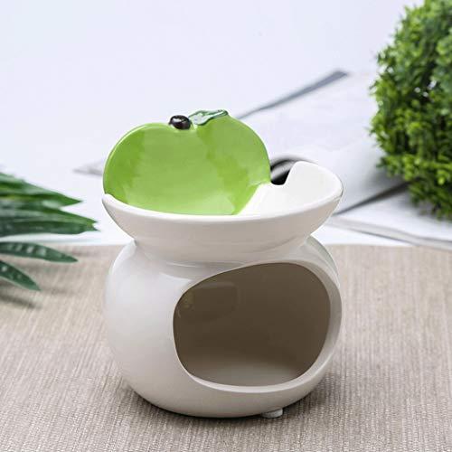 WGH Cenicero de Cigarrillos Cenicero de cerámica Multifuncional de Doble Capa cenicero Creativo Encantador de salón de decoración en casa habitación 4.1 * 4.3in para Fumadores (Color : Green+White)