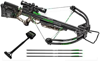 TenPoint Legend Ultra Lite Package with ACU draw/3X Pro-View 2 Scope/3 Carbon Arrows & Quiver, Large