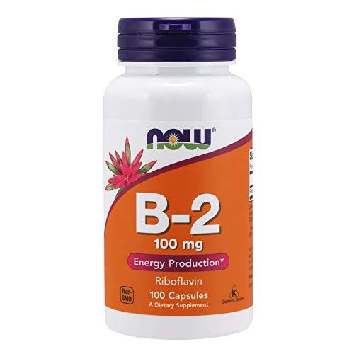 Now Foods Vitamin-B2 100mg Riboflavin Vitamine 100 Kapseln