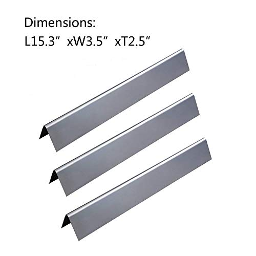 GasSaf 15.3inch Flavorizer Bar Replacement for Weber Spirit 200,Spirit E210 Series,Spirit 210/220/E-220/S-210 Gas Grills,Stainless Steel Flavor Bars Replacement for Weber 7635(15.3