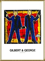 ポスター ギルバート&ジョージ 無題 額装品 アルミ製ハイグレードフレーム(ゴールド)