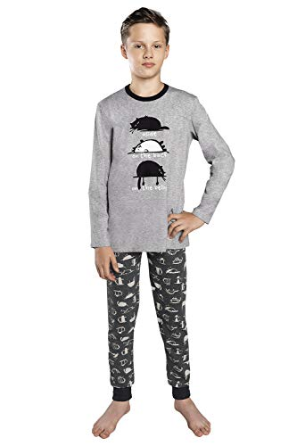 Italian Fashion Pijamas Chico, Niño Manga Larga Algodón Inverno Dos Piezas