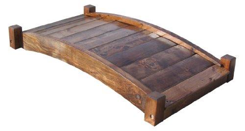 SamsGazebos Zen Japanese Style Wood Garden Bridges, 4-Feet, Brown