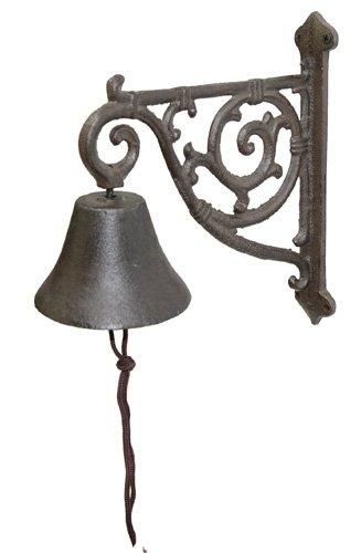 Nene-Home PAGOTTI Glocke aus dunkelrostfarbenem Gußeisen