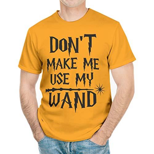 ANVPI Mannen Laat me niet gebruiken Mijn Wand Gedrukt Elastisch T-Shirt Workout Sport Tees met Korte Mouwen Casual Sport Top