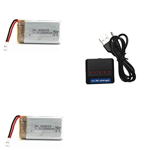 RFGTYH 3.7V 1800mAh batería lipo RC Quadcopter Accesorios de Juguete KY601S Accesorios de batería 3.7v batería + 5 Cargador de Interfaz Burgundy