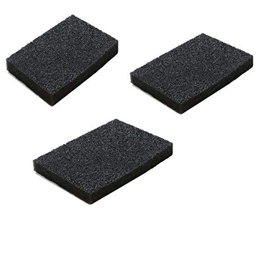 Esponjas para fregar de cocina que no rayan la esponja de alta resistencia, cepillo de esponja de carborundo, esponja de limpieza, esponja sin olor (negro, 3 piezas)