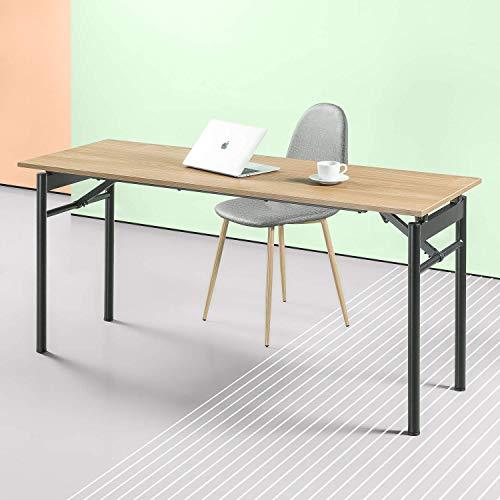 ZINUS Mare 160cm, escritorio plegable de metal negro con acabado resistente al agua | Mesa plegable versátil | Escritorio de oficina | No requiere montaje