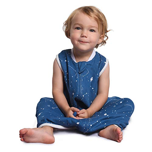 Momcozy Babyschlafsäcke (Blau + Sterne, 1Tog M)