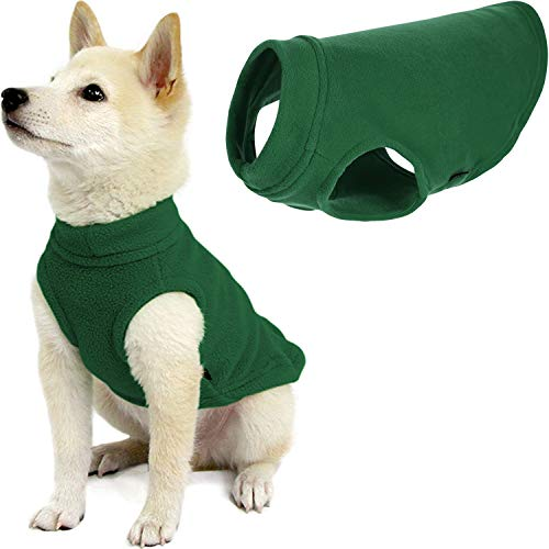 Gooby Stretch Fleece Dog Vest – Forest Green, Medium – Pullover Fleece Dog Sweater – Warm Dog Jacket Dog Clothes Sweater Vest – Dog Sweaters for Small Dogs to Large Dogs for Indoor and Outdoor Use