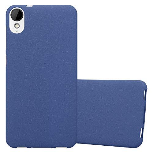 Cadorabo Funda para HTC Desire 10 Lifestyle/Desire 825 en Frost Azul Oscuro - Cubierta Proteccíon de Silicona TPU Delgada e Flexible con Antichoque - Gel Case Cover Carcasa Ligera