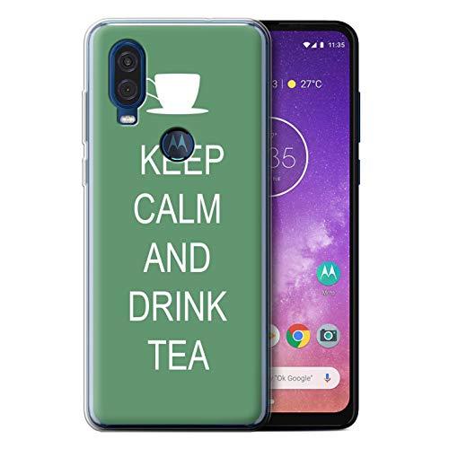 eSwish telefoonhoesje/Cover/Skin/MOTO-GC/Keep Calm Collection Motorola One Vision 2019 Drink Thee/Groen