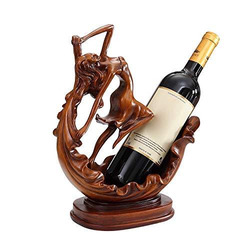 Estante para botellas de vino copas vino encimera Nordic Inicio Creative Crafts estante del vino Resina estante del vino Decoración, Seguridad antideslizante estante del vino del estante del vino de l