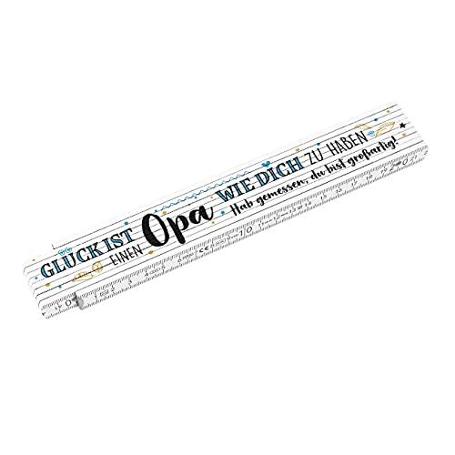Herz & Heim® Geschenk für Opa Zollstock Glück ist einen Opa wie Dich zu haben
