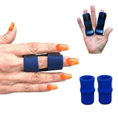 😌 RELIEF FROM PAIN IN YOUR FINGERS! The splint keeps your finger stable while performing tasks which alleviates pressure on the finger joint from arthritis, tendinitis, swelling or mallet fingers 📏 KEEPS YOUR FINGER FROM BENDING! - The built-in alumi...