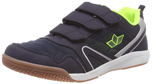 Lico Unisex-Kinder Boulder V Multisport Indoor Schuhe, Blau (Marine/Lemon Marine/Lemon), 41 EU