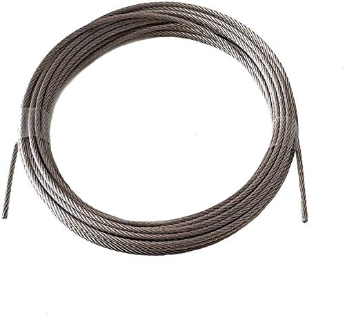 Nirosta - Cuerda de alambre (3 mm, 15 m, acero inoxidable, 7 x 7, EN 1.4401, dureza media, A4, Nirosta)