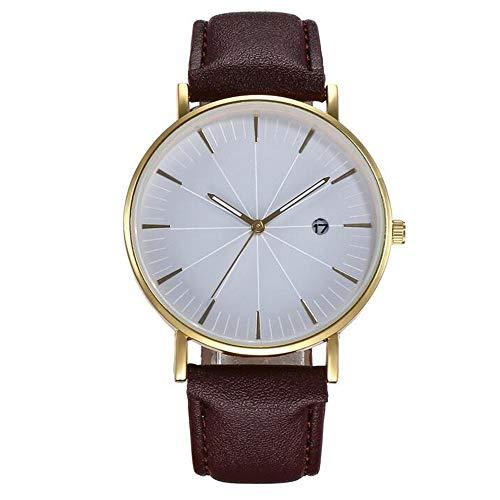ZSDGY Meridian Belt Calendar Watch, Reloj de Pulsera Casual para Hombre B