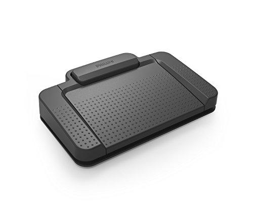 Philips ACC2330/00 USB-Fußschalter 4 Pedal-Design, frei konfigurierbar, Plug und Play, anthrazit