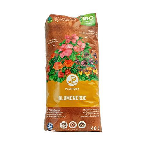 Plantura Bio Blumenerde, 40 L, torffrei & klimafreundlich, vorgedüngt