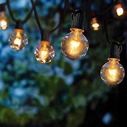Guirlande Lumineuse Intérieur et extérieur,VIFLYKOO Guirlande Guinguette de 25+4 Ampoules étanche 9.5M Blanc Chaud ampoule Décoration pour Patio,Café,Jardin,Parti,de noël,Vacances