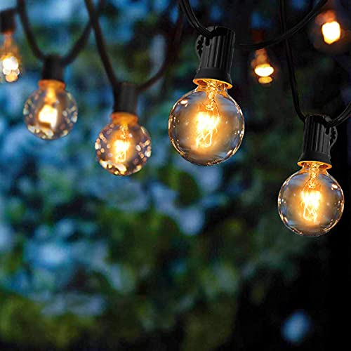 Guirlande Lumineuse Intérieur et extérieur, Guirlande Guinguette de 25+4 Ampoules étanche 9.5M Blanc Chaud...
