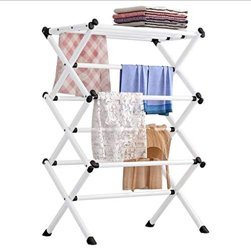 Tendedero Plegables secado de ropa de lavandería bastidor interior de secado Lavado tendedero ahorro de espacio estante de la capa del metal atormentan la suspensión de ropa for interiores y exteriore