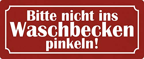 Algemeen blikken bord 27x10cm gewelfd Gelieve Nicht in wastafel roze decoratief bord