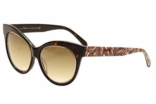 Emilio Pucci - EP0024, Cat eye, acetato, donna, DARK HAVANA PINK FANTASY/BROWN SHADED(56F B), 55/17/140