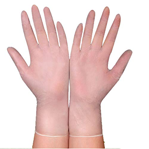 100 Einweghandschuhe PVC Handschuhe Disposible Gloves Reinigung Geschirrspülen Küche Restaurant Haushaltshandschuhe Untersuchungshandschuhe Salons Friseur Schönheit Tätowieren Einweg Handschuhen