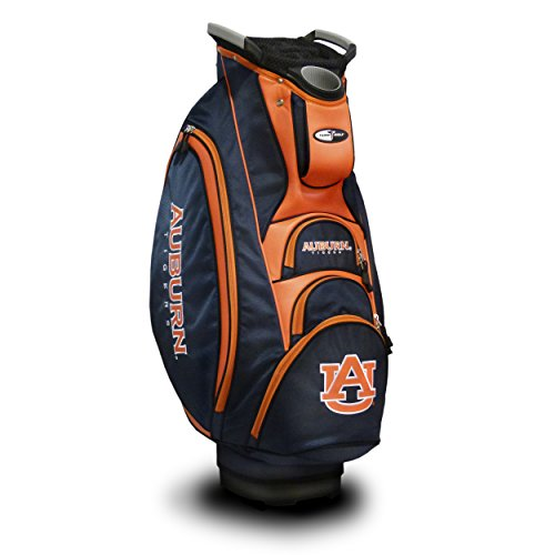 %9 OFF! Team Golf NCAA Auburn University Tigers Victory Golf Cart Bag, 10-way Top with Integrated Du...