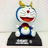 UD-strap Coche Bobble Cabeza Doraemon Muñeca, Sacudiendo Los Ornamentos del Coche De La Cabeza 12 Gatos Robot del Zodiaco Conmigo, Accesorios del Coche del Gato del Jingle 11cm e