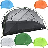 2 Person Backpacking Tent with Footprint - Lightweight Zion Two Man 3 Season Ultralight, Waterproof, Ultra Compact 2p Freestanding Backpack Tents for Camping and Hiking by Hyke & Byke (Forest Green)