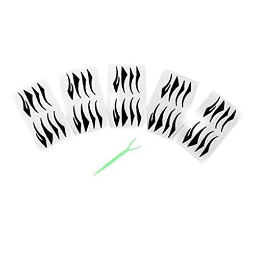 40 paires eyeliner noir Autocollants magiques Faux Eyeliner auto-adhésif invisible à double bande Paupières fibre collez beauté Outils de maquillage