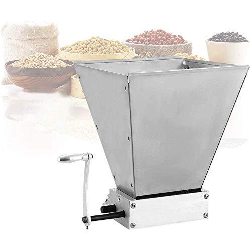 S SMAUTOP Moulin à malt manuel Moulin à grains inoxydable Avec 2 rouleaux réglables Broyeur d'orge, fabricant de farine pour le brassage à la maison(Manuel)
