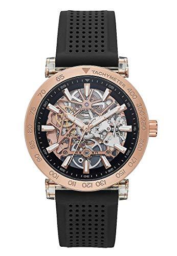 Michael Kors Herren Analog Automatik Uhr mit Silikon Armband MK9041
